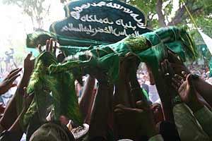 The Islamic flag is hoisted at the auspicious moment at Kataragama