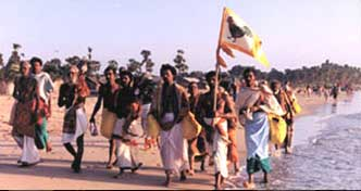 Kataragama Pada Yatra at Uppuveli, north of Trincomalee