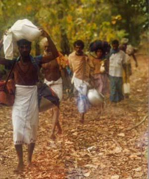 Pada Yatra through Yala Naitonal Park, 1997