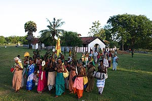 Pada Yatra foot pilgrims at Verugal